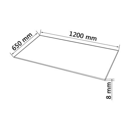 """vidaXL Table Top Tempered Glass Rectangular 47.2""""x25.6""""[4/4]"""