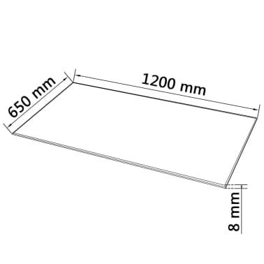 vidaXL Stalviršis, grūdintas stiklas, stačiakampio forma, 1200x650mm[4/4]