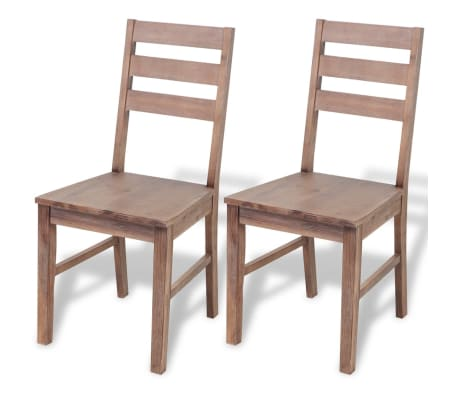 Nice VidaXL Set Of 2/4/6 Solid Acacia Wood Dining Chairs Kitchen Dining Room  Seats