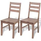 "vidaXL Dining Chairs 2 pcs Solid Acacia Wood 16.5""x19.3""x35.4"""