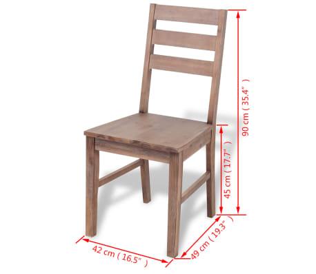 "vidaXL Dining Chairs 2 pcs Solid Acacia Wood 16.5""x19.3""x35.4""[6/6]"