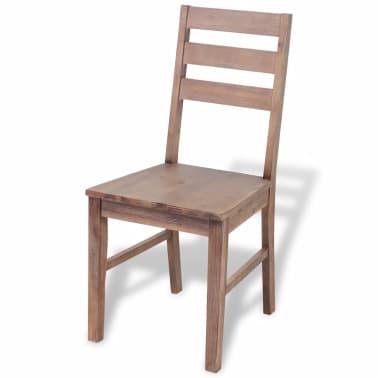 "vidaXL Dining Chairs 2 pcs Solid Acacia Wood 16.5""x19.3""x35.4""[2/6]"