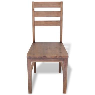 "vidaXL Dining Chairs 2 pcs Solid Acacia Wood 16.5""x19.3""x35.4""[3/6]"