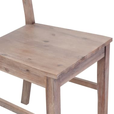 "vidaXL Dining Chairs 2 pcs Solid Acacia Wood 16.5""x19.3""x35.4""[5/6]"