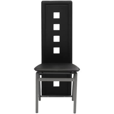 vidaXL Chaises de salle à manger 2 pcs Noir Similicuir[2/5]