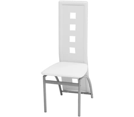 vidaxl esszimmerst hle 4 stk kunstleder wei g nstig kaufen. Black Bedroom Furniture Sets. Home Design Ideas