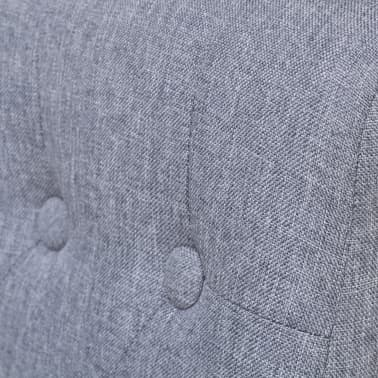 vidaXL Dining Chairs 2 pcs Fabric Upholstery Dark Gray[5/6]