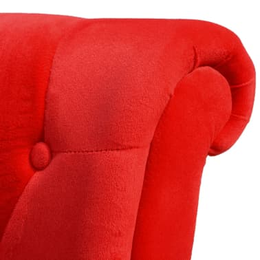 vidaXL Sofa Chair High Back Red[5/5]