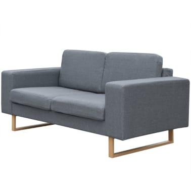 vidaXL 2-Seater Sofa Fabric Light Gray[1/3]