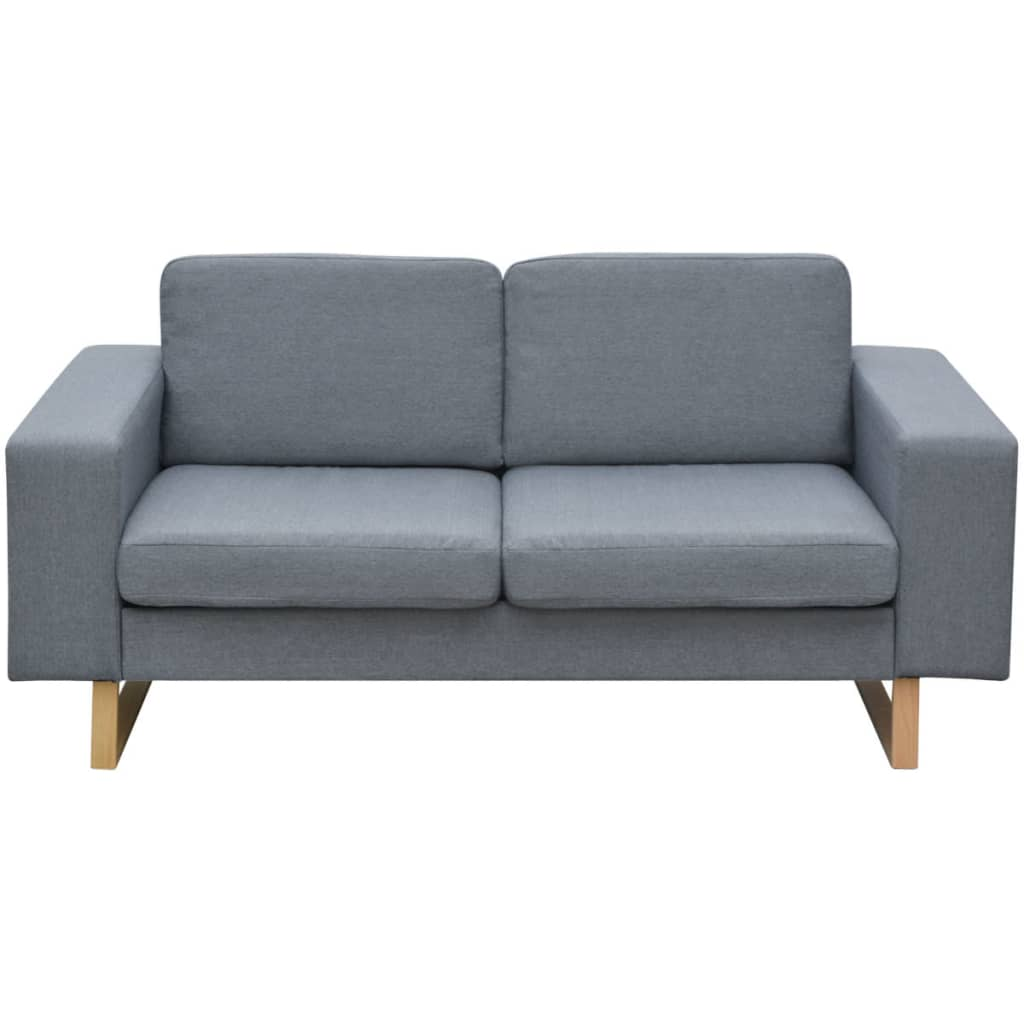 Modern 2/3-Seater Sofa Fabric Couch Living Room Lounge Sofa Light ...