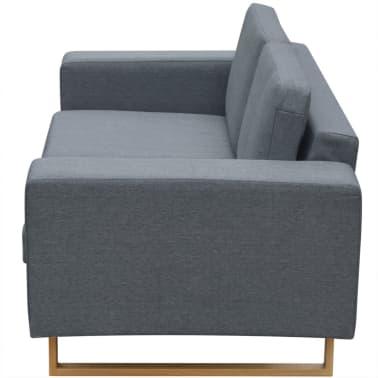 vidaXL 2-Seater Sofa Fabric Light Gray[3/3]