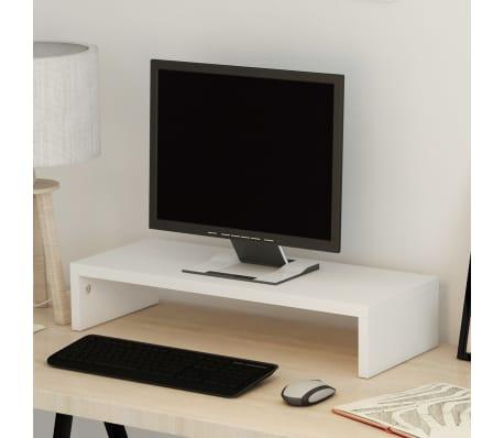 vidaXL Pakyla monitoriui, med. drožlių plokštė, 60x23,5x12 cm, balta[1/5]