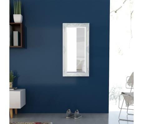 Vidaxl specchio da parete stile barocco 100x50 cm bianco for Specchio da parete 180 cm