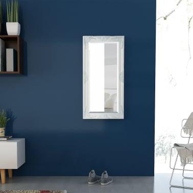 "vidaXL Wall Mirror Baroque Style 39.4""x19.7"" White[3/9]"