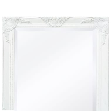 "vidaXL Wall Mirror Baroque Style 39.4""x19.7"" White[7/9]"