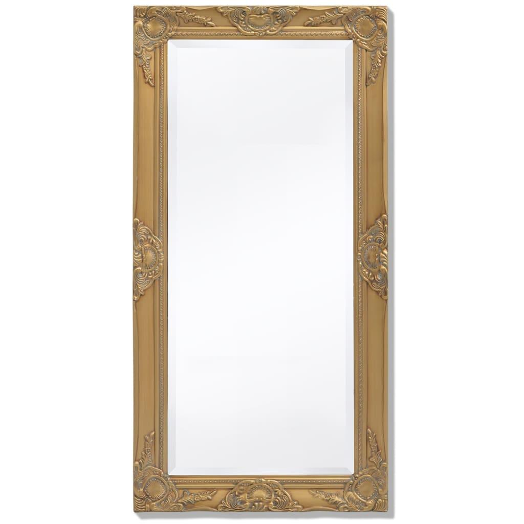 vidaXL Nástěnné zrcadlo barokní styl 100x50 cm zlaté