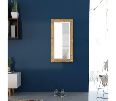 "vidaXL Wall Mirror Baroque Style 39.4""x19.7"" Gold[3/9]"