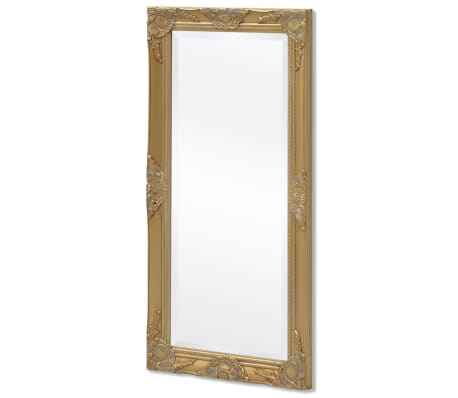 "vidaXL Wall Mirror Baroque Style 39.4""x19.7"" Gold[4/9]"