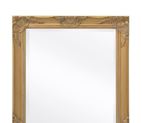 Vidaxl specchio da parete stile barocco 100x50 cm dorato for Specchio da parete 180 cm