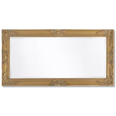 "vidaXL Wall Mirror Baroque Style 39.4""x19.7"" Gold[5/9]"