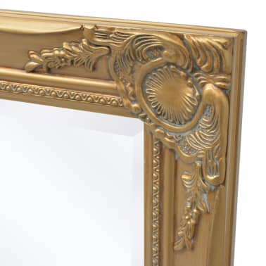 "vidaXL Wall Mirror Baroque Style 39.4""x19.7"" Gold[6/9]"