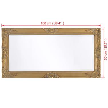 "vidaXL Wall Mirror Baroque Style 39.4""x19.7"" Gold[9/9]"
