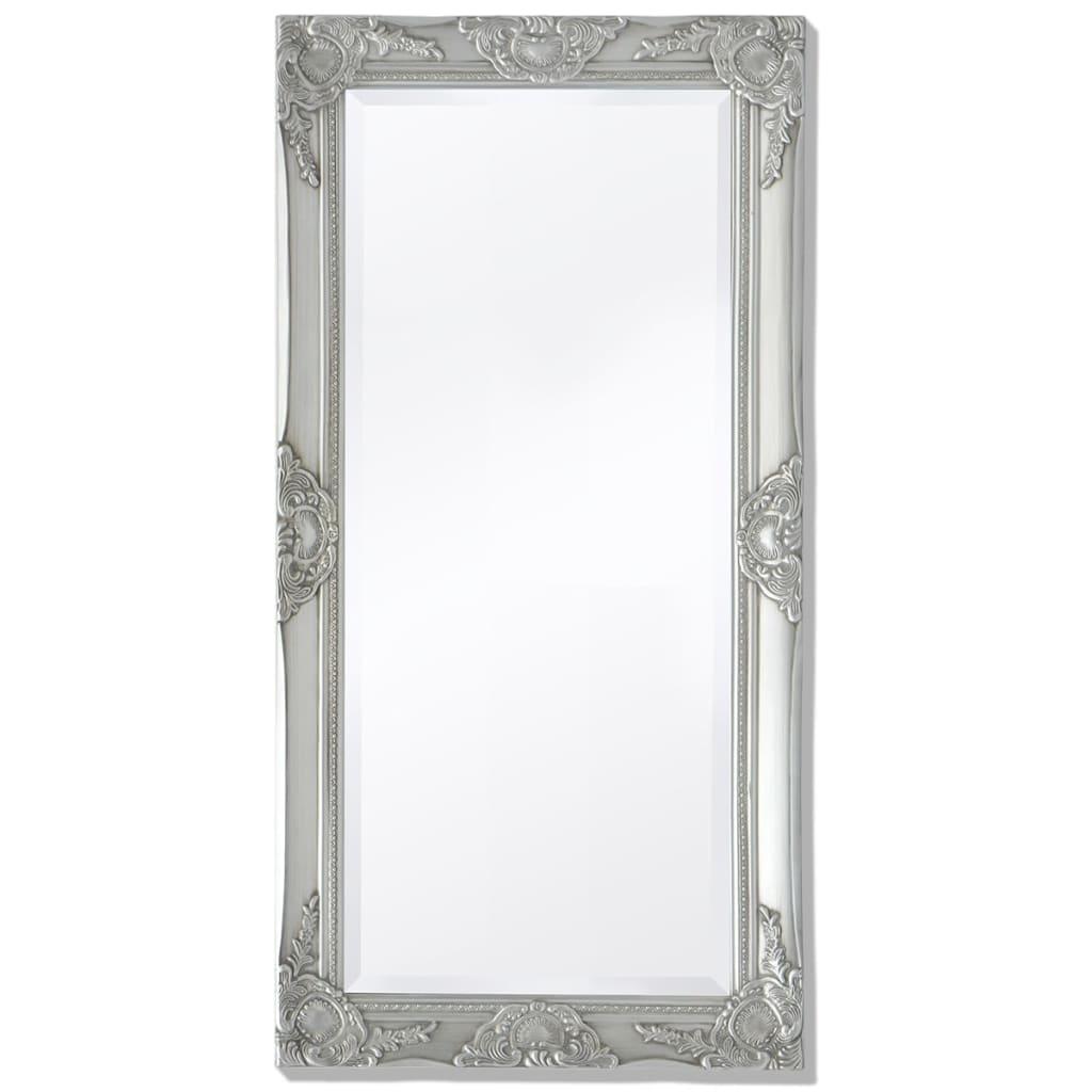vidaXL Nástěnné zrcadlo barokní styl 100x50 cm stříbrné