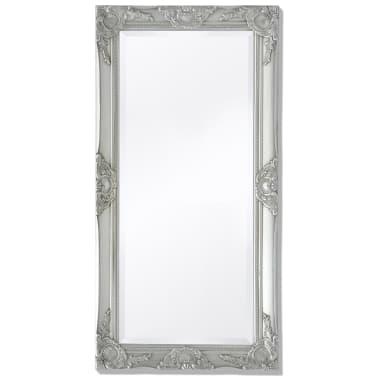 "vidaXL Wall Mirror Baroque Style 39.4""x19.7"" Silver[1/9]"