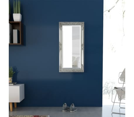 "vidaXL Wall Mirror Baroque Style 39.4""x19.7"" Silver[3/9]"