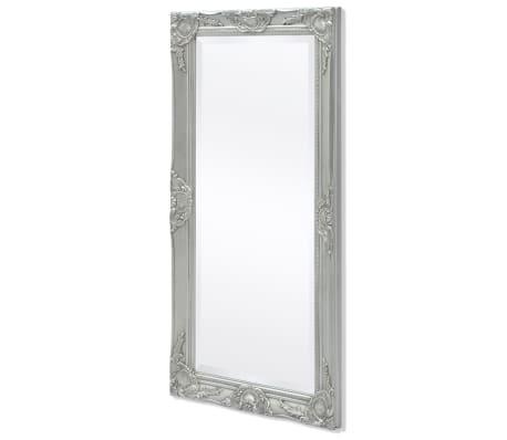 "vidaXL Wall Mirror Baroque Style 39.4""x19.7"" Silver[4/9]"