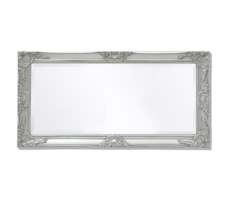 "vidaXL Wall Mirror Baroque Style 39.4""x19.7"" Silver[5/9]"