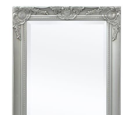 "vidaXL Wall Mirror Baroque Style 39.4""x19.7"" Silver[7/9]"