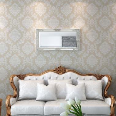 "vidaXL Wall Mirror Baroque Style 39.4""x19.7"" Silver[2/9]"