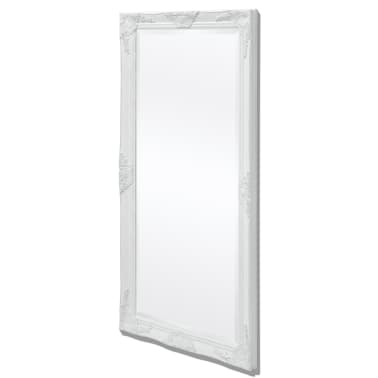 "vidaXL Wall Mirror Baroque Style 47.2""x23.6"" White[1/9]"