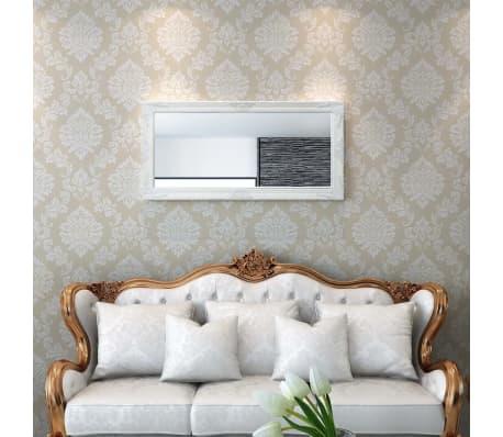 "vidaXL Wall Mirror Baroque Style 47.2""x23.6"" White[2/9]"