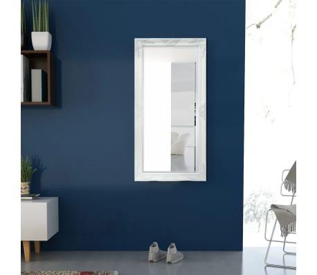 "vidaXL Wall Mirror Baroque Style 47.2""x23.6"" White[3/9]"