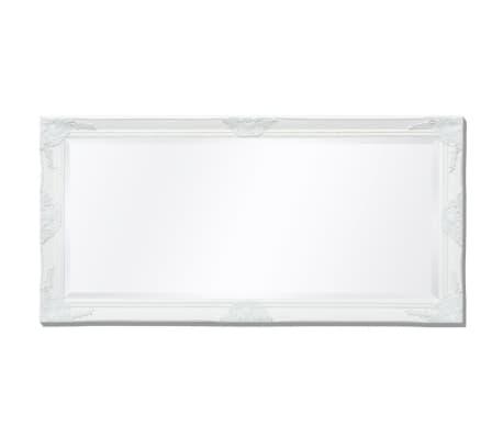 "vidaXL Wall Mirror Baroque Style 47.2""x23.6"" White[5/9]"