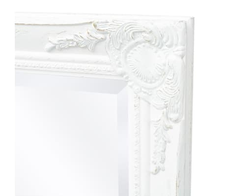 "vidaXL Wall Mirror Baroque Style 47.2""x23.6"" White[6/9]"