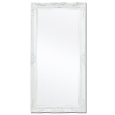 "vidaXL Wall Mirror Baroque Style 47.2""x23.6"" White[4/9]"