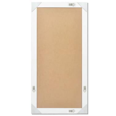 "vidaXL Wall Mirror Baroque Style 47.2""x23.6"" White[8/9]"