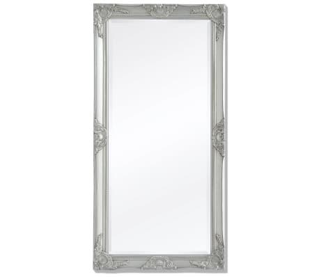 vidaXL Specchio da Parete Stile Barocco 120x60 cm Argento