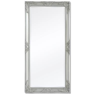 "vidaXL Wall Mirror Baroque Style 47.2""x23.6"" Silver[1/9]"