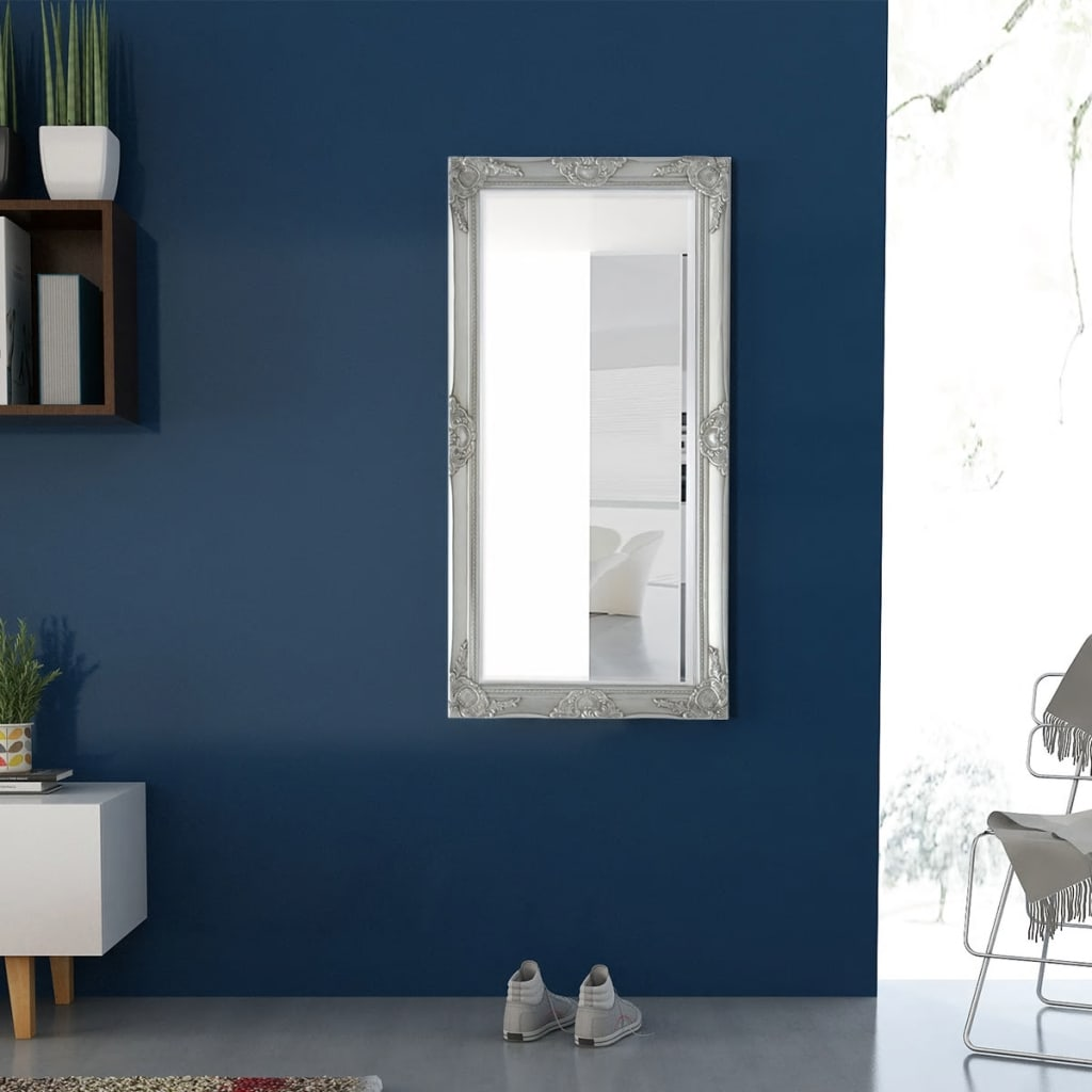 Wandspiegel Barok 120 x 60 cm zilver