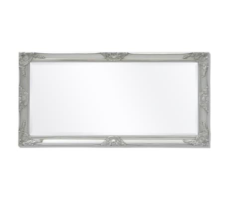 "vidaXL Wall Mirror Baroque Style 47.2""x23.6"" Silver[5/9]"