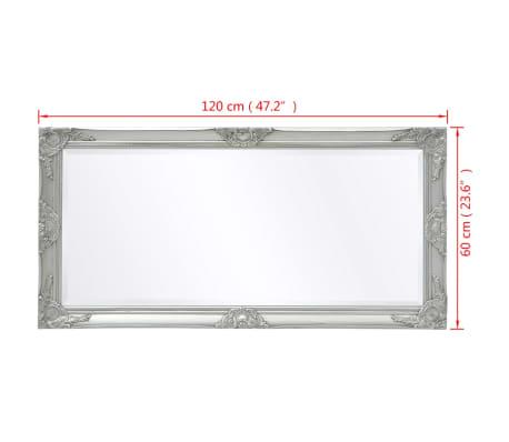 "vidaXL Wall Mirror Baroque Style 47.2""x23.6"" Silver[9/9]"