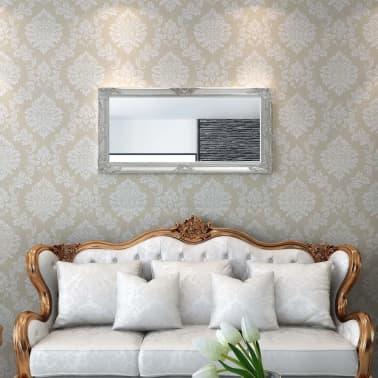 "vidaXL Wall Mirror Baroque Style 47.2""x23.6"" Silver[2/9]"