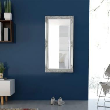 "vidaXL Wall Mirror Baroque Style 47.2""x23.6"" Silver[3/9]"