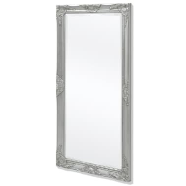 "vidaXL Wall Mirror Baroque Style 47.2""x23.6"" Silver[4/9]"
