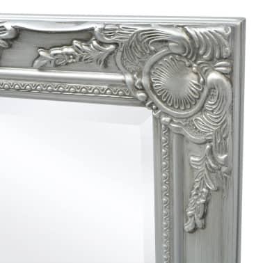 "vidaXL Wall Mirror Baroque Style 47.2""x23.6"" Silver[6/9]"