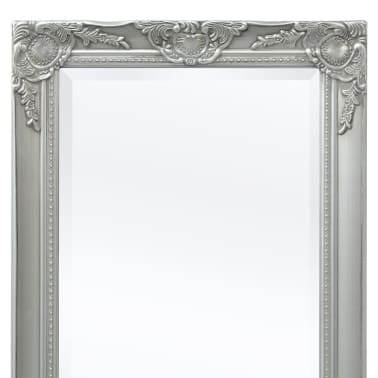 "vidaXL Wall Mirror Baroque Style 47.2""x23.6"" Silver[7/9]"